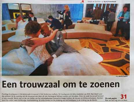 De Gelderlander – Een trouwzaal om te zoenen