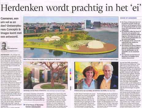 De Gelderlander – Herdenken wordt prachtig in het 'ei'