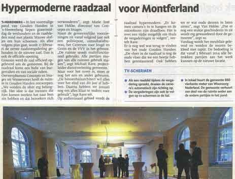 De Gelderlander – Hypermoderne raadzaal voor montferland