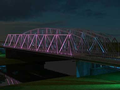 Verlichting brug Westervoort