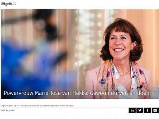 Powervrouw Marie-José van Hekke: Gewoon durven en doen!